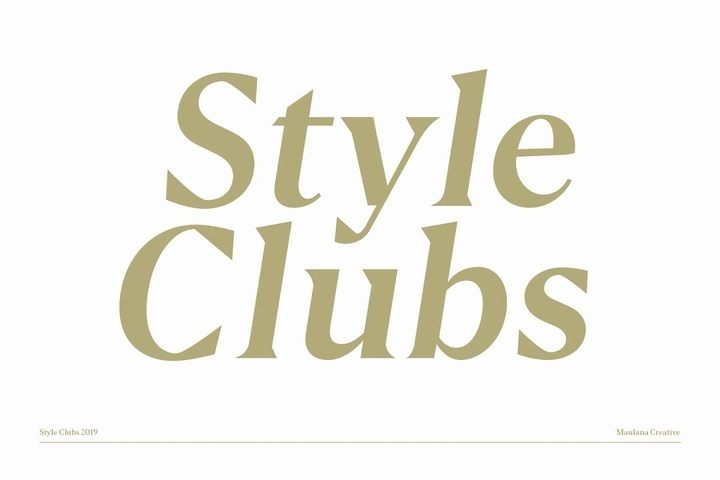 Style Club衬线时尚经典老式英文字体下载