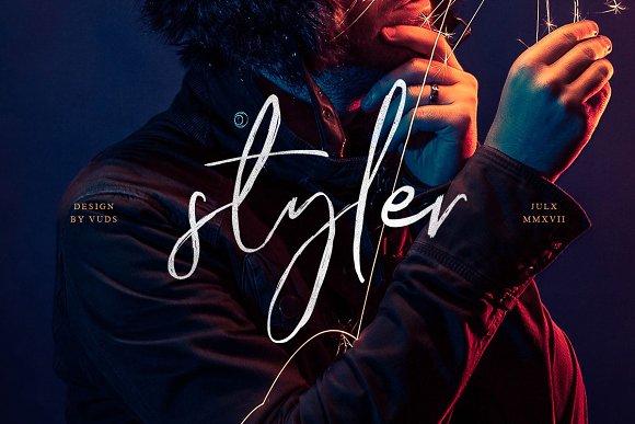 Styler手写连笔艺术英文字体下载