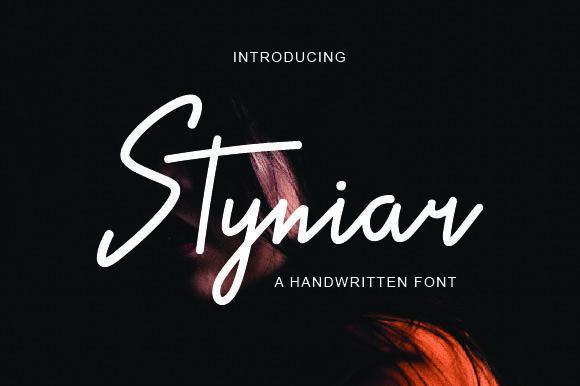 Styniar手写个性潮流海报主题英文字体下载