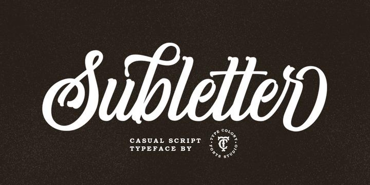 Subletter花式个性英文字体下载