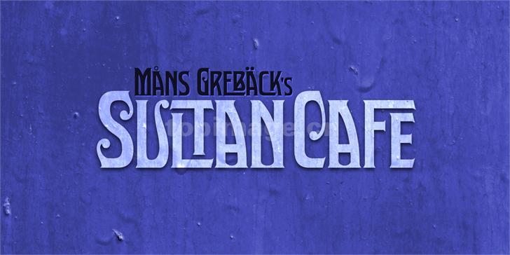SultanCafe哥特式个性斑驳质感艺术英文字体下载