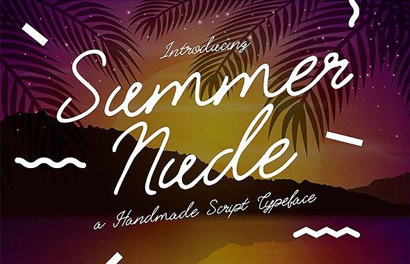 Summer Nude 手写连笔英文艺术字体下载