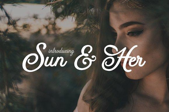 Sun and Her 手写时尚英文字体下载