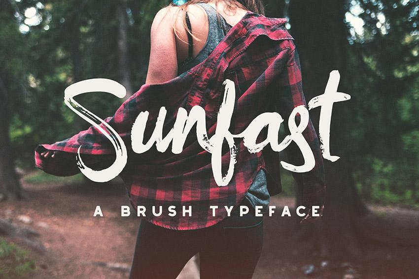 Sunfast手写笔刷连笔英文字体下载