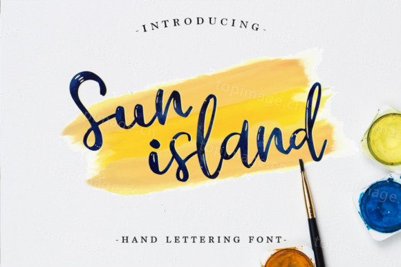 Sunisland卡通手绘手写笔触好看的英文字体下载