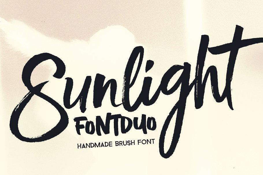 Sunlight笔刷手写书法英文字体下载