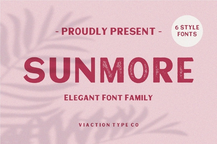 Sunmore现代无衬线logo排版英文字体下载