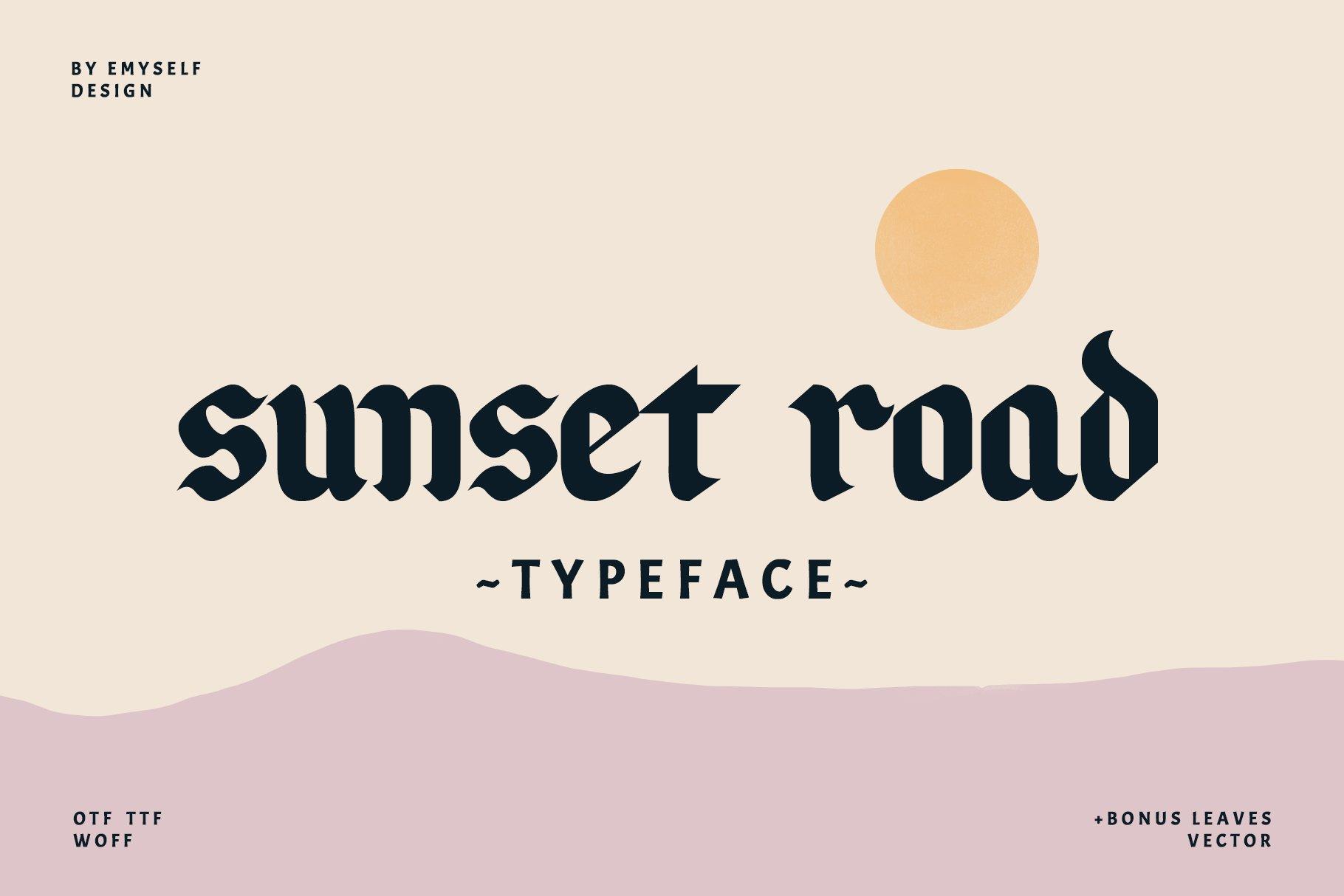 Sunset Road 个性哥特纹身英文字体下载