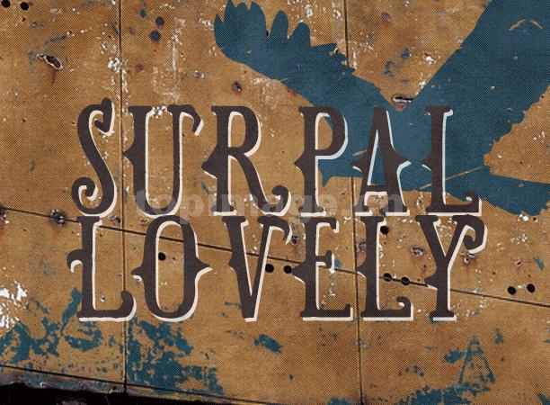 Surpal Lovely复古简约个性斑驳质感艺术英文字体下载