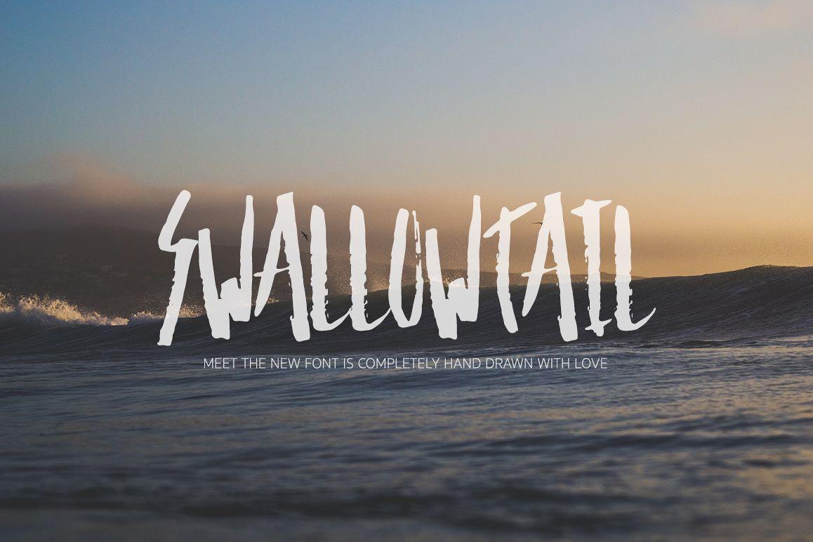 SwallowTail手写个性笔触电影海报英文字体下载