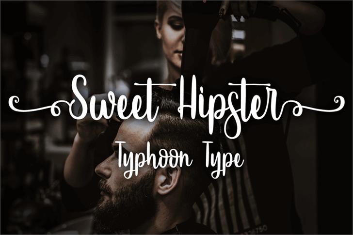 SweetHipster时尚摄影手写连笔花式英文字体下载
