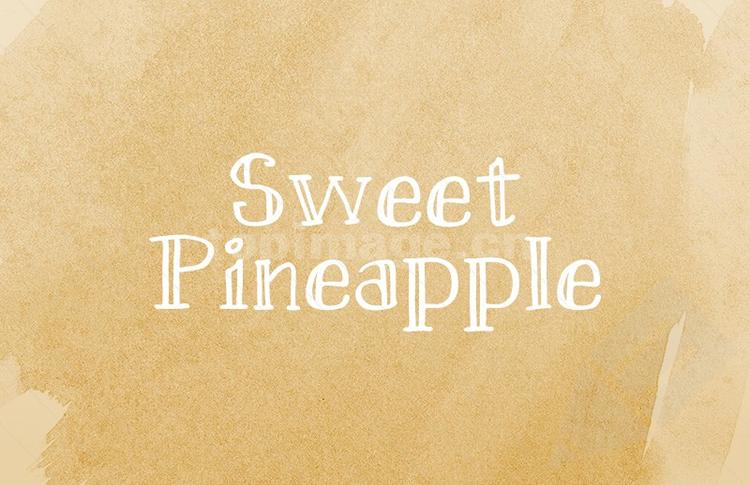 SweetPineapple个性哥特式手写手绘英文字体下载