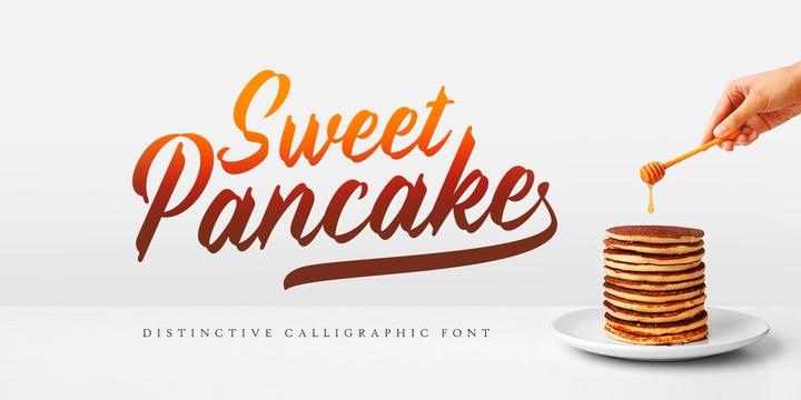 Sweet Pancake 手写餐饮菜单标题英文字体下载