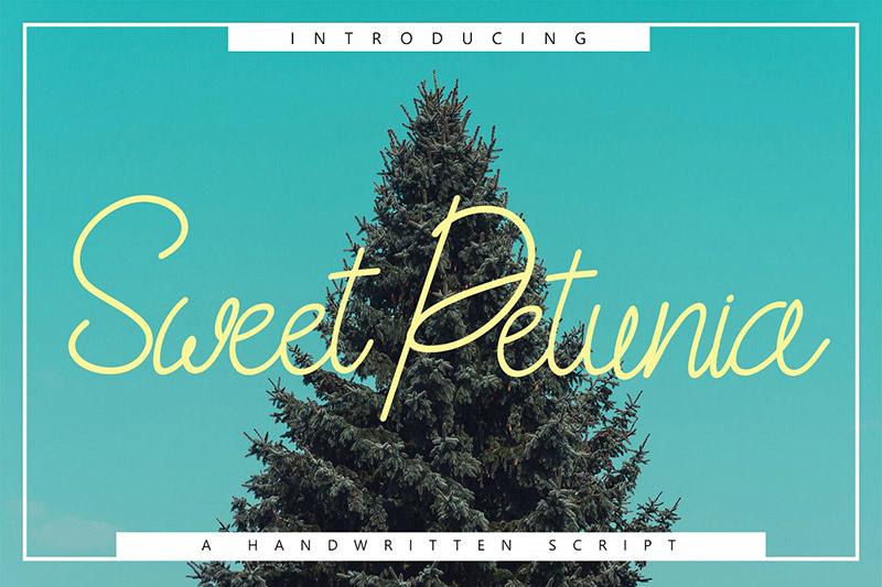 Sweet Petunia极细连笔线条英文字体下载