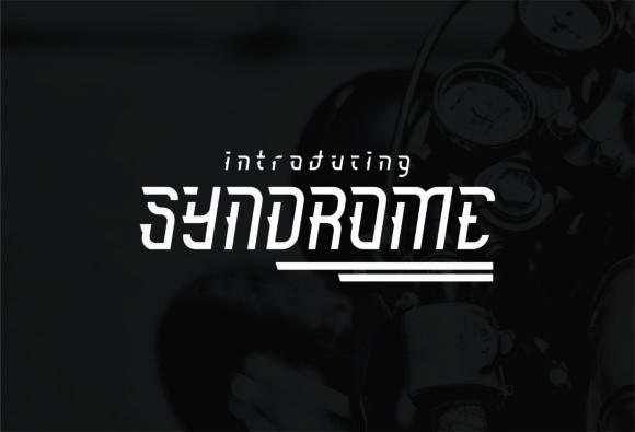 Syndrome现代logo科技英文字体下载