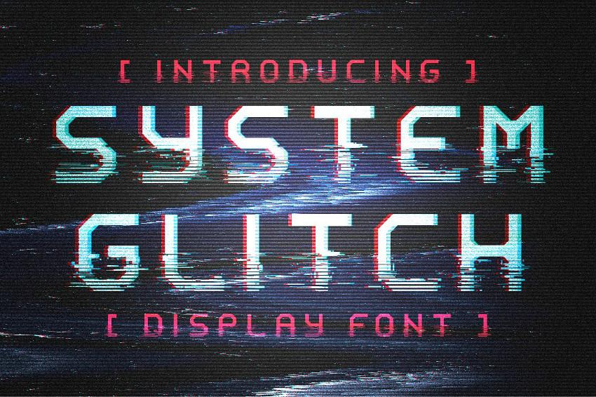 System Glitch抖音风格科技网红英文字体下载