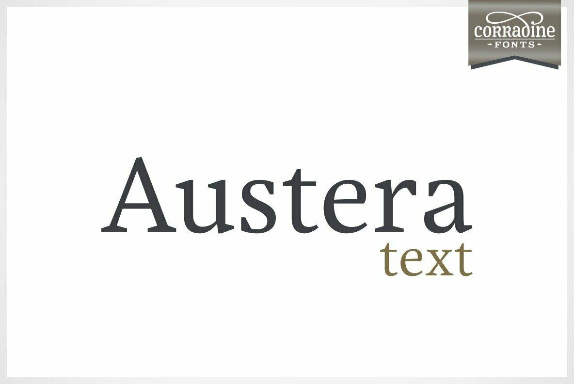 Austera Text 衬线设计logo英文字体下载
