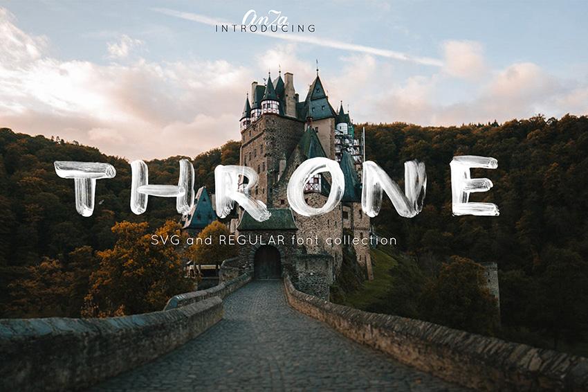 THRONE新svg格式笔触书法英文字体下载