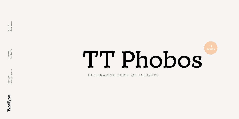 TTPhobos衬线经典logo排版设计英文字体下载