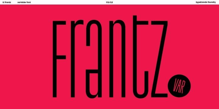 TT Frant 现代创意logo设计英文字体下载