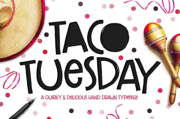 Taco Tuesday手写可爱卡通英文字体下载