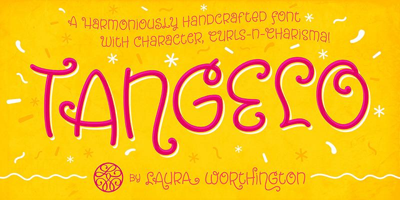 Tangelo可爱卡通英文连笔字体下载