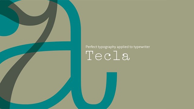 Tecla现代衬线logo英文字体下载