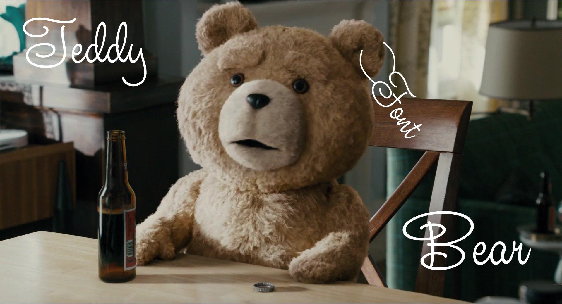 Teddy Bear手写连笔婚礼签名艺术花体英文字体下载