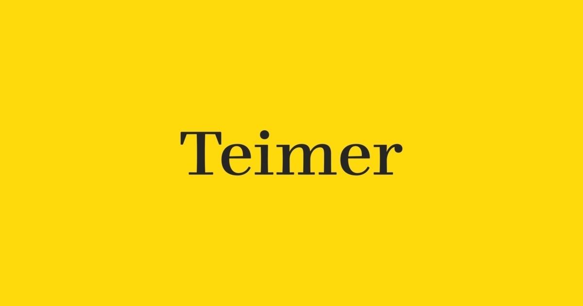 Teimer衬线现代logo排版设计英文字体下载