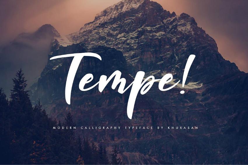 Tempe!手写时尚连笔文艺英文字体下载
