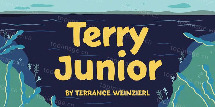 TerryJunior粗犷卡通手绘英文字体下载