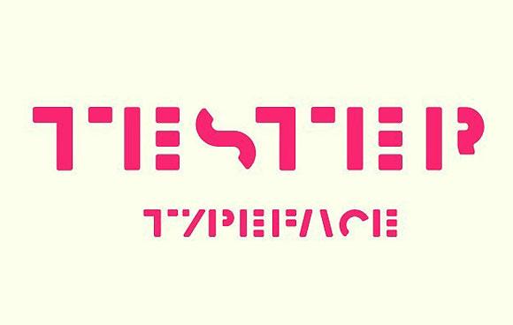 Tester创意logo现代英文字体下载
