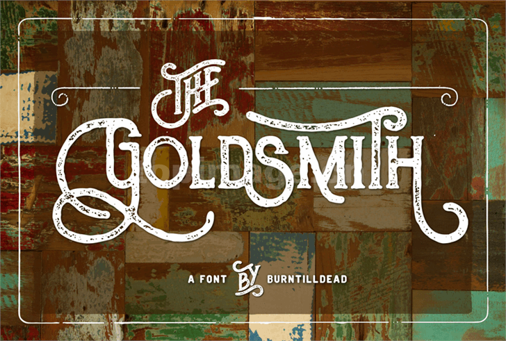TheGoldsmithVintage复古飘逸哥特式斑驳质感艺术英文字体下载