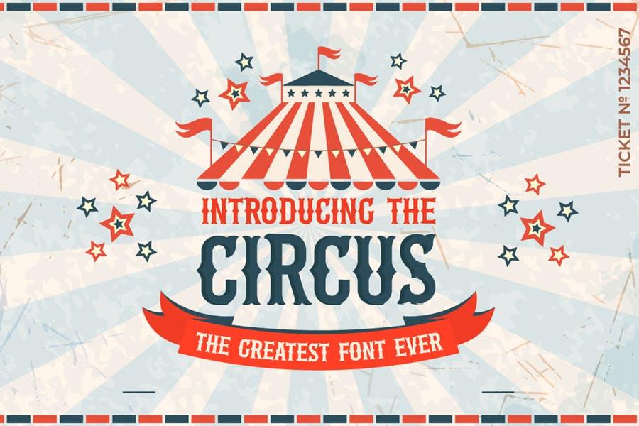 The Circus哥特骨节衬线个性英文字体下载