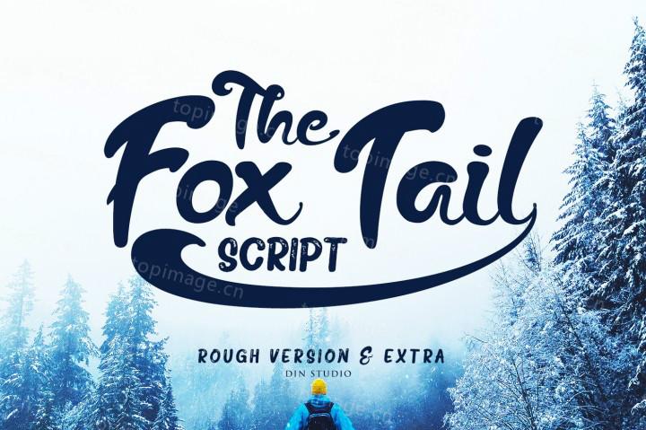 TheFoxTail画笔笔刷适合包装餐饮英文字体下载