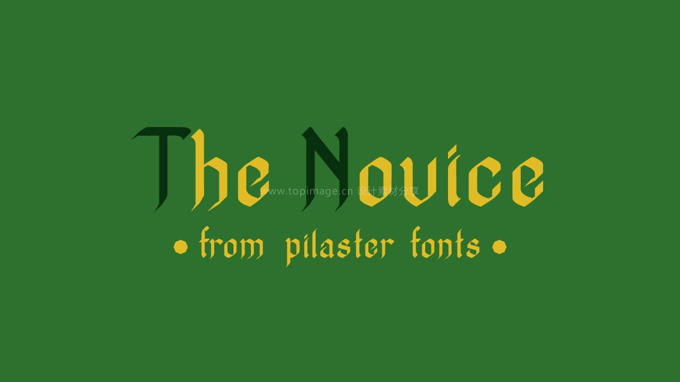 TheNovice哥特式logo英文字体下载