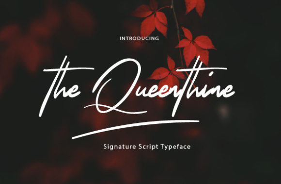TheQueenthine手写网红签名艺术英文字体