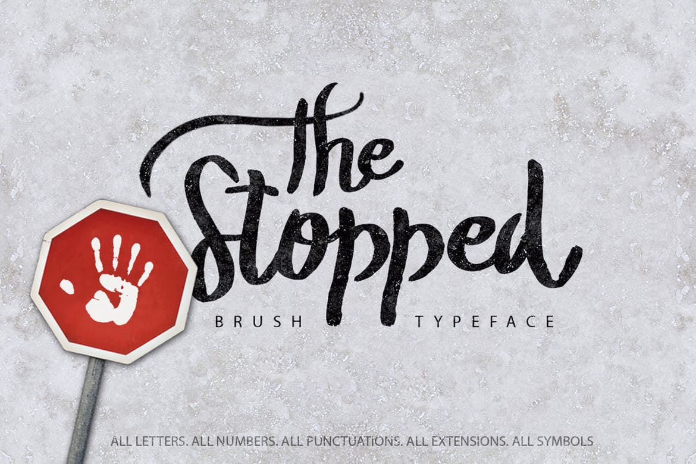 TheStopped笔刷手写英文字体下载