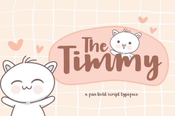TheTimmy卡通可爱连笔英文字体时尚