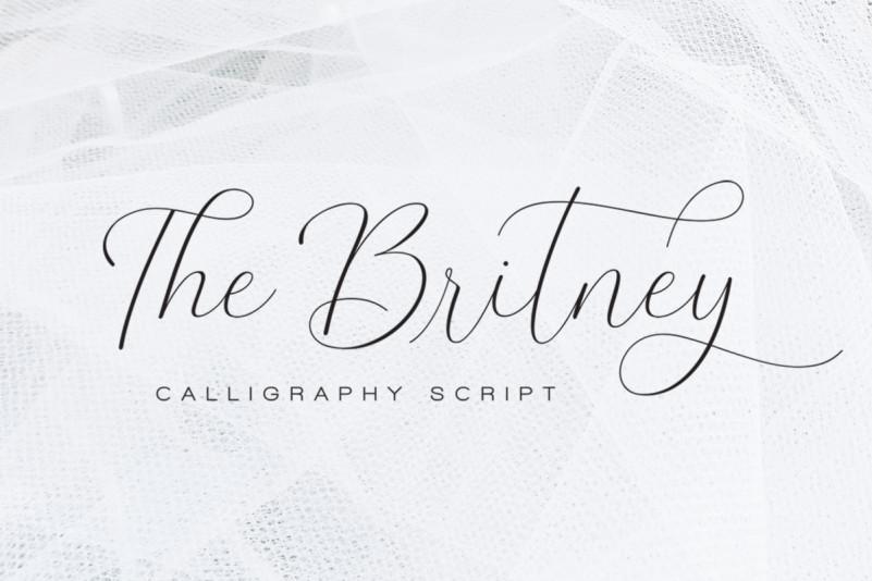 The Britney花体婚礼英文字体下载