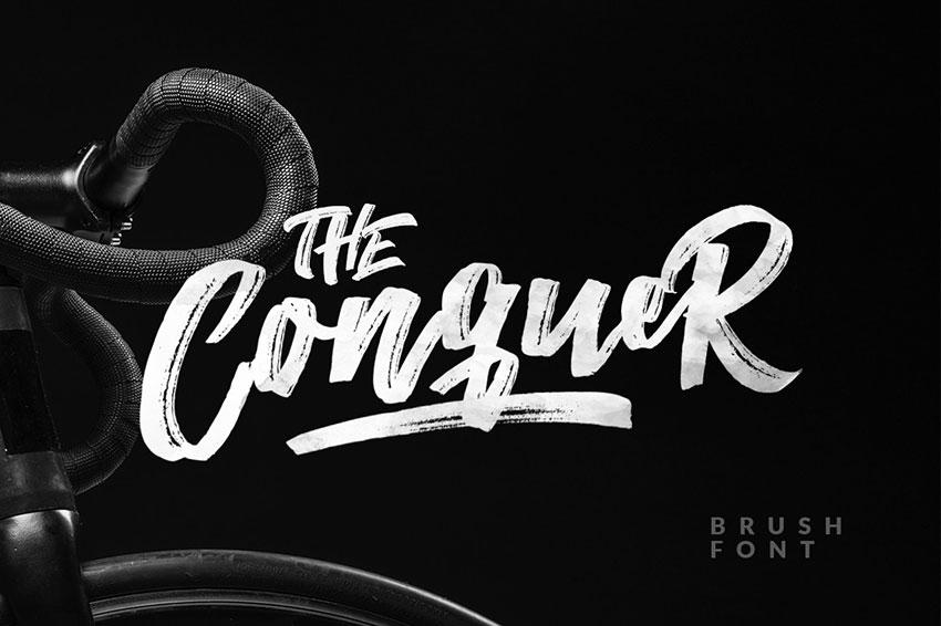 The Conquer笔刷笔触手写大气英文字体下载