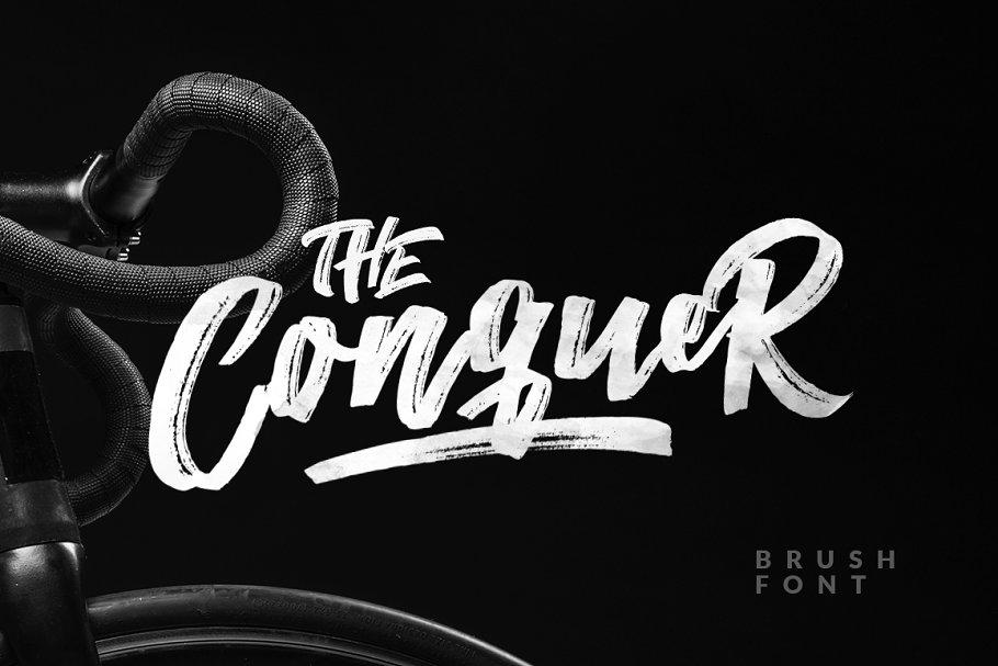 The Conuqer大气笔刷书法英文字体下载