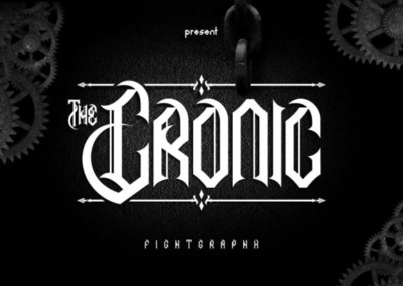 The Cronic哥特个性纹身游戏英文字体下载
