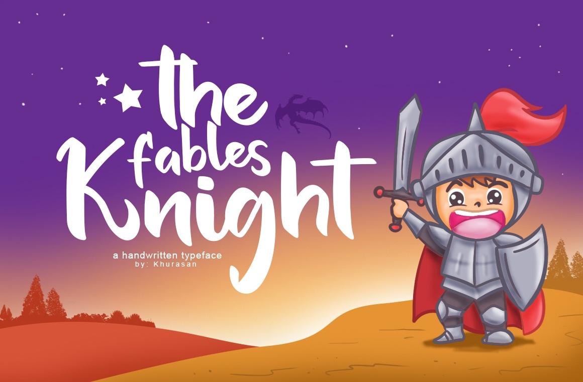 The Fables Knight手写手绘卡通包装可爱英文字体下载