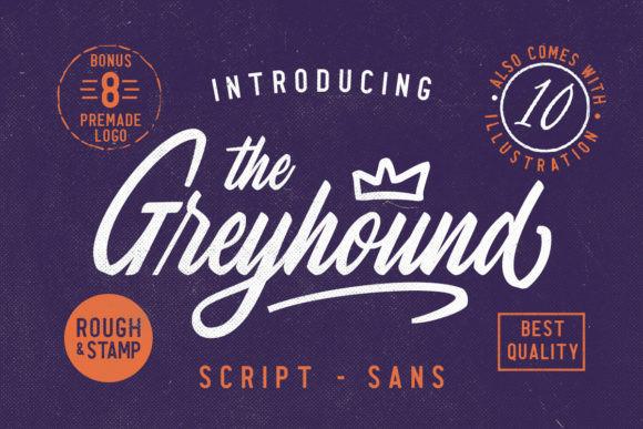 The Greyhound手写连笔电商海报英文字体下载