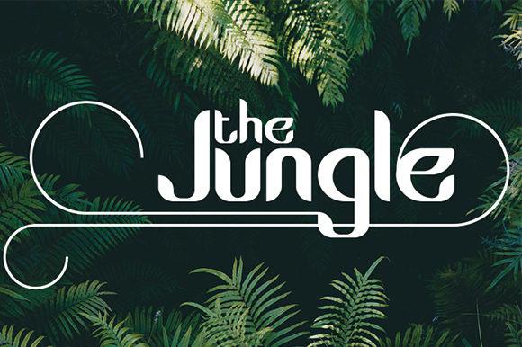 The Jungle衬线英文时尚字体下载