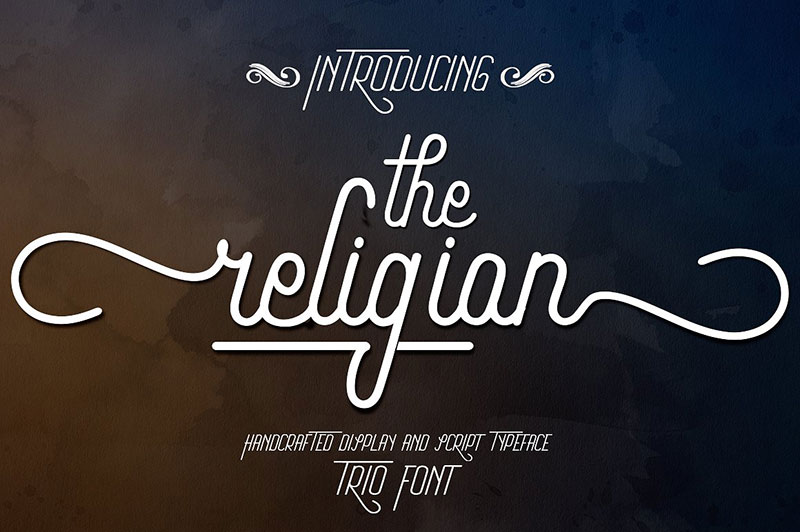 The Religion创意logo英文字体下载