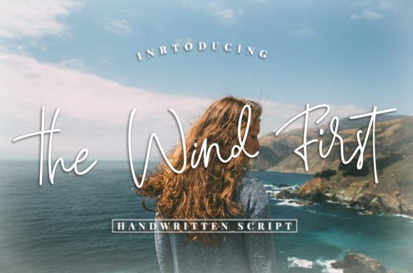 The Wind First手写随意英文字体下载