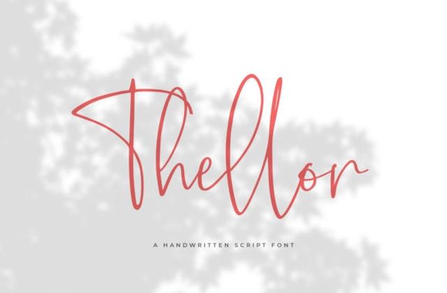 Thellor手写手绘连笔签名艺术字体下载