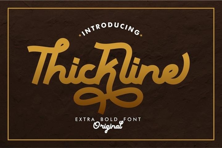 Thickline个性现代连笔英文字体下载